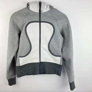 Lululemon scuba hoodie two toned gray